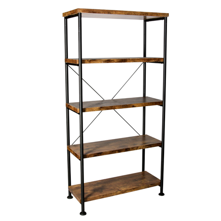 Rustic Wooden Shelves / X Back
